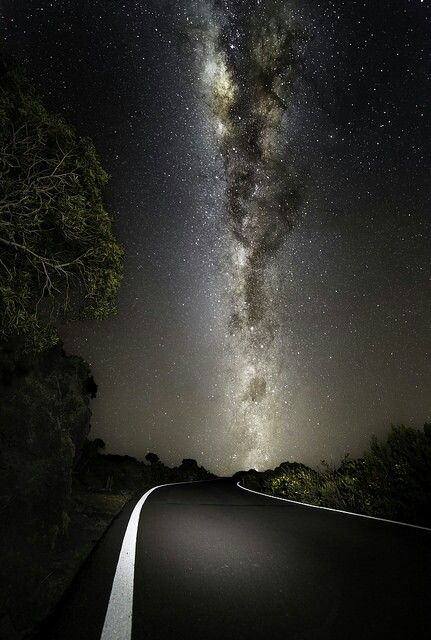 Road and night