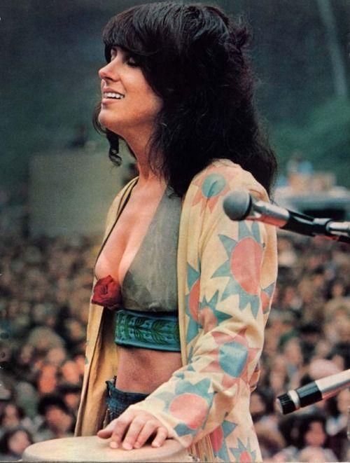 Grace Slick at Woodstock, 1967.