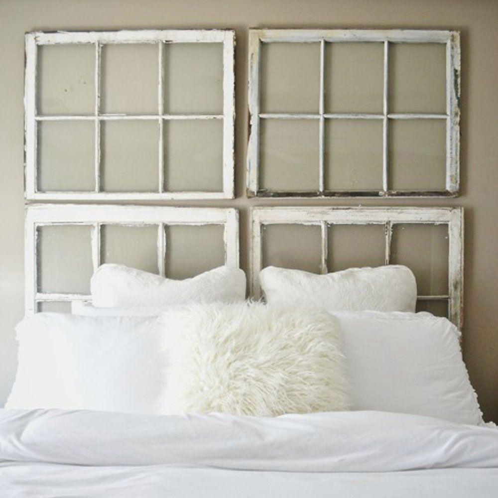 Diy bedroom headboard ideas make your bed  easy diy headboards  window headboard window and