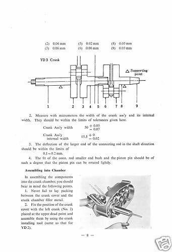 yamaha workshop manual yd3 1961 1962 1963 1964 1965 maintenance rh pinterest com Otawwa Workshop Manuals Ford Workshop Manuals