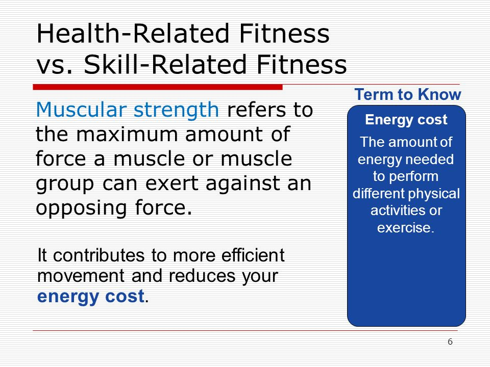 Difference Between Health Related And Skill Related Fitness Doctor Heck Health Skills Muscular Strength