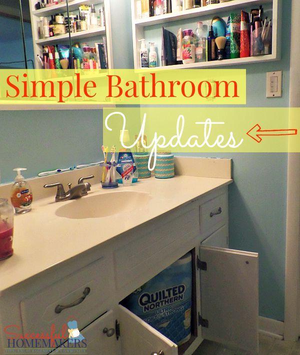 Easy Bathroom Updates, Simple