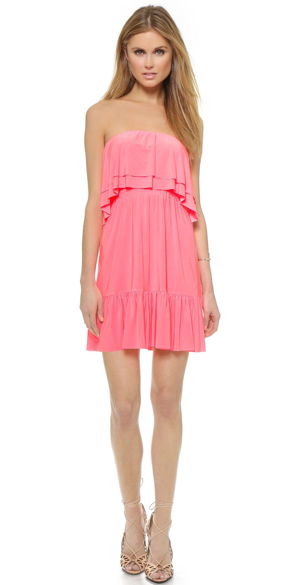 Tbags Los Angeles Ruffle Strapless Dress Shopbop Save 25 Use Code Bigevent15 Strapless Ruffle Dress Dresses Strapless Dress [ 2000 x 1016 Pixel ]