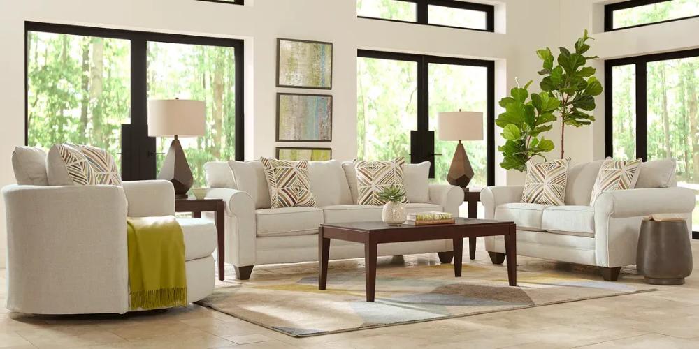 Ashebelle Beige 2 Pc Living Room Living Room Sets Furniture Rooms To Go Furniture Dining Room Sets