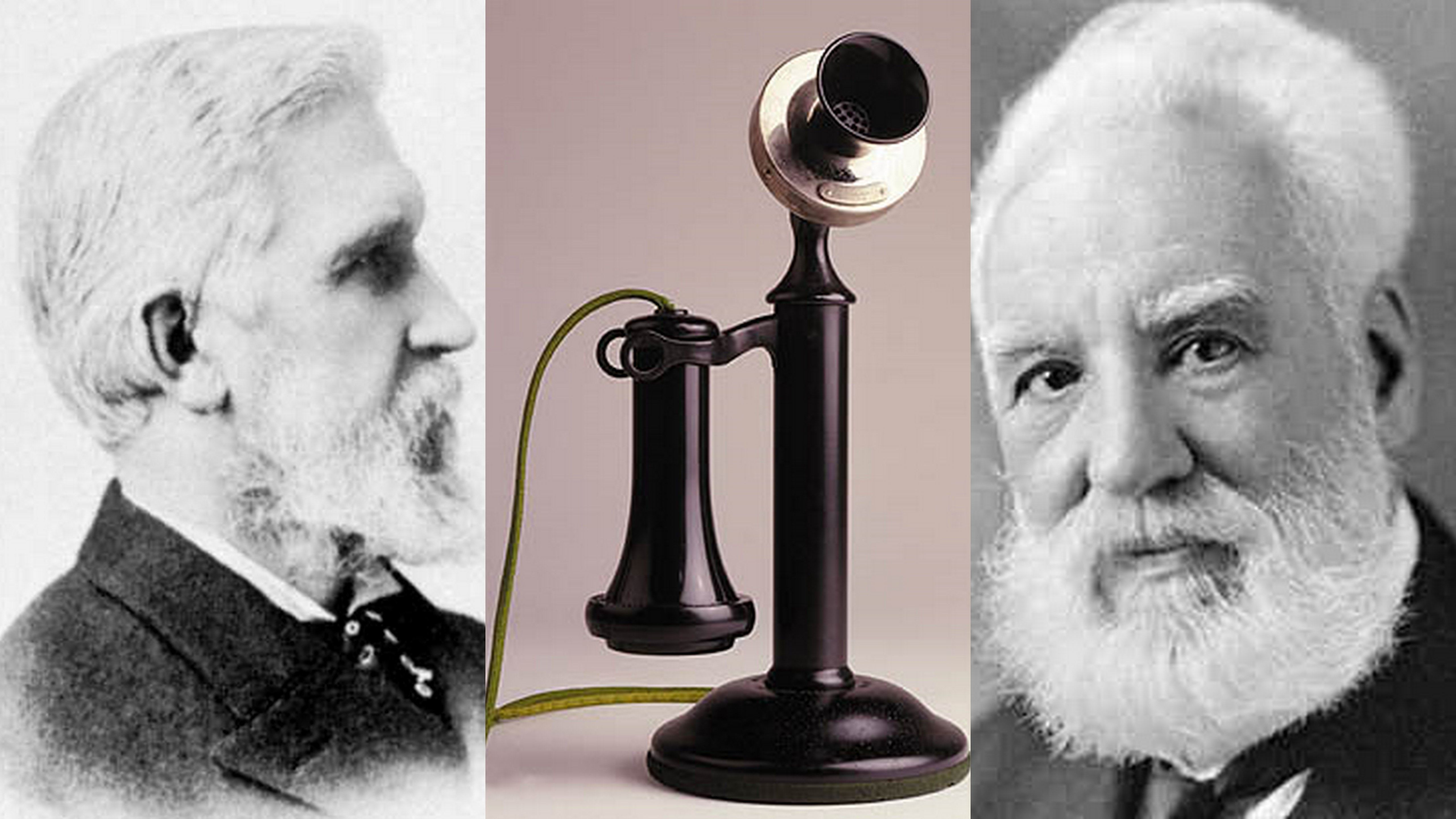 The inventions of the telephone also generated patent arguments as inventors Elisha Gray and Alexander Graham Bell bickered back and forth arguing whose invention the telephone actually was. Description from guardianlv.com. I searched for this on bing.com/images