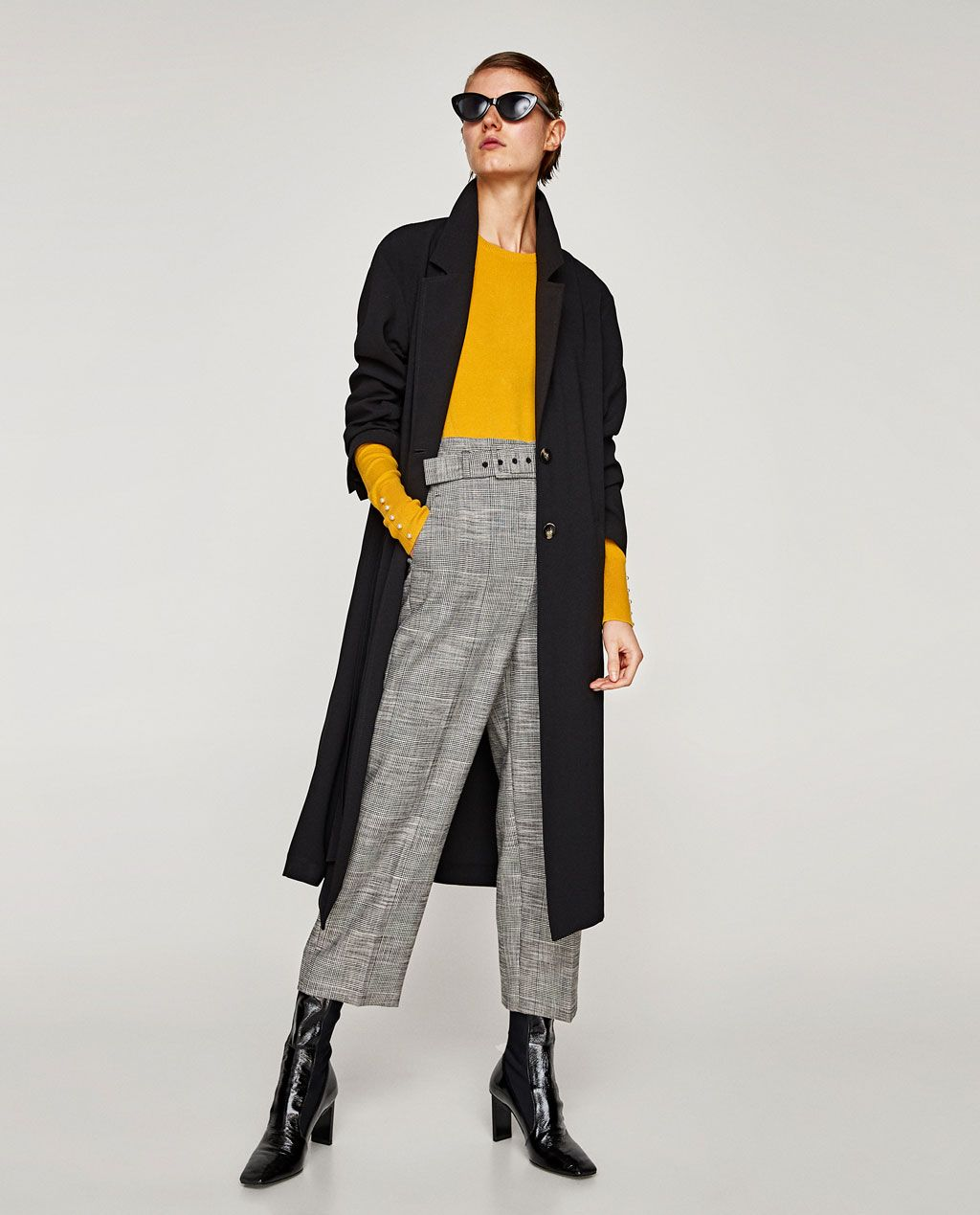 Zara Black Sweater With Fur Cuffs And Pockets: SWEATER WITH PEARLY CUFFS-BEST SELLERS-WOMAN