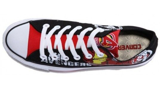 25b16fd9f0c2 Converse Shoes Black White Avengers- Iron Man Chuck Taylor All Star Classic  Canvas Sneakers Low - Dereo Shop