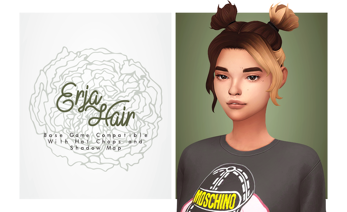 Fantayzia Maxis Match Isjao Erja Hair Egirl Hair Inspired By An In 2020 Sims 4 Sims 4 Collections Sims