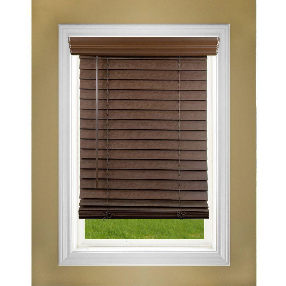 Perfect Lift Window Treatment Dark Oak 2 In Cordless Faux