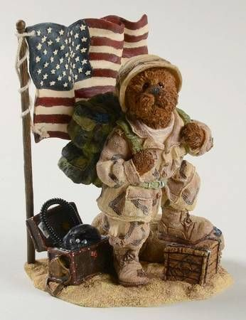 2002 G I Bruin Stand Up For Freedom Style 228387 The Bearstone Collection Boyds Bears Bear Boyds