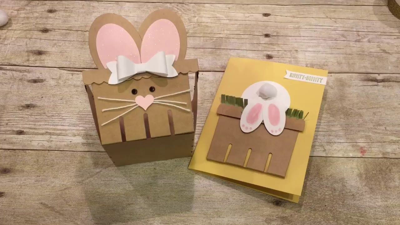 How to make a bunny treat basket and card kids crafts pinterest how to make a bunny treat basket and card m4hsunfo