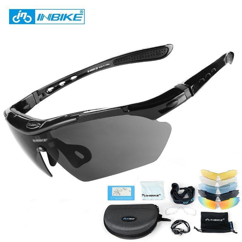 55d178488b Barato INBIKE ciclismo gafas UV prueba polarizado 5 lente marco gafas  bicicleta gafas de sol al