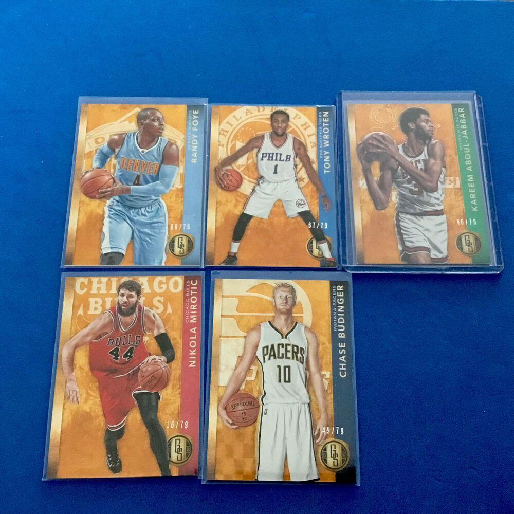 5 Basketball Cards of Derek Fisher