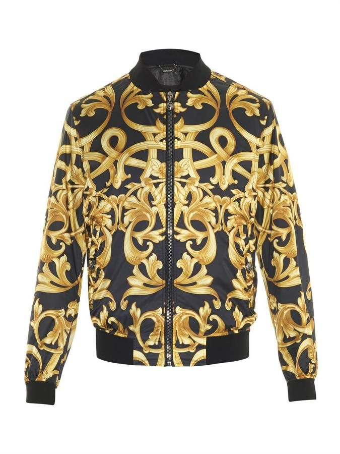 Versace Baroque-print bomber jacket   Locating project   Pinterest ... c99606a0b44