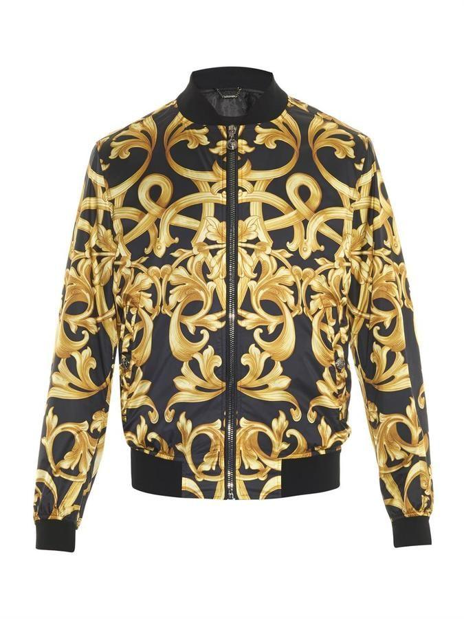 Versace Baroque-print bomber jacket   Locating project   Pinterest ... 03c2df956f8