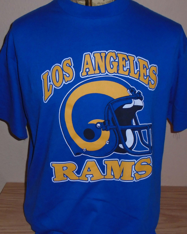 abfd78a4 vintage 1980s Los Angeles Rams football retro t shirt XL by vintagerhino247  on Etsy