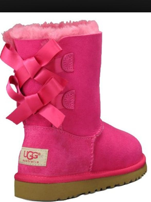 Womens pink ugg boots with bows