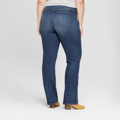 560f20df6de Maternity Plus Size Crossover Panel Bootcut Jeans - Isabel Maternity by  Ingrid   Isabel Dark Wash