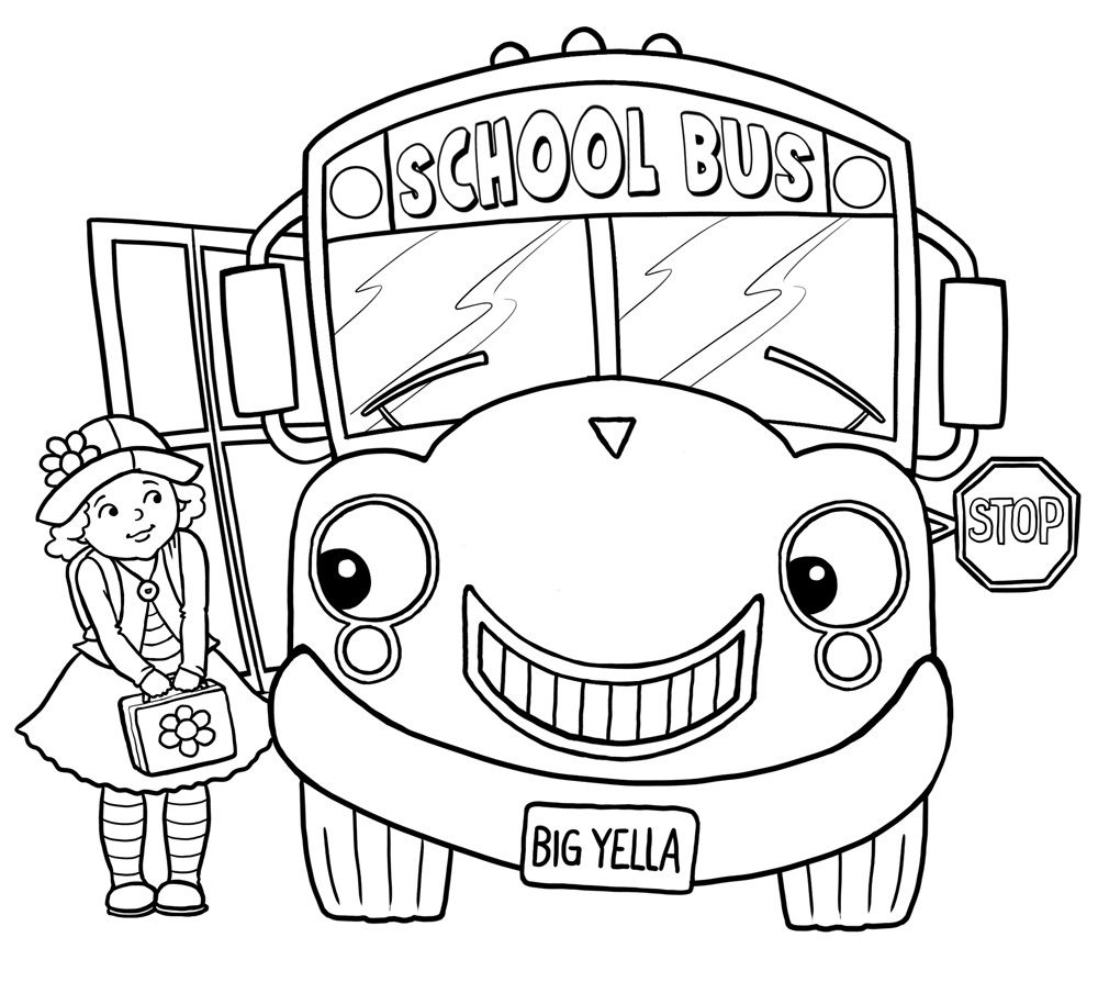 Free Printable School Bus Coloring Pages For Kids | School buses