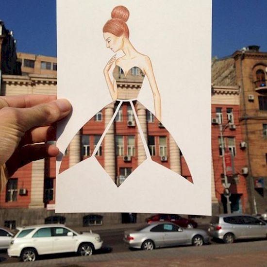 11. Stencil dress ballerina