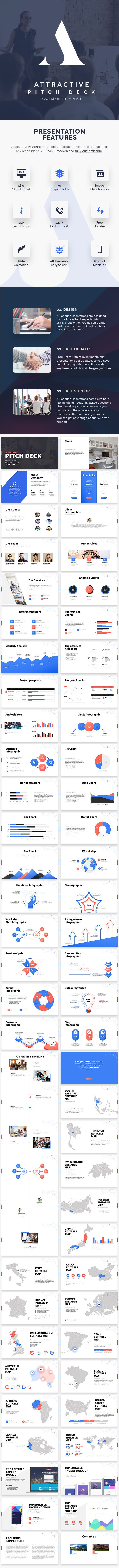 Attractive pitch deck powerpoint presentation business attractive pitch deck powerpoint presentation toneelgroepblik Images