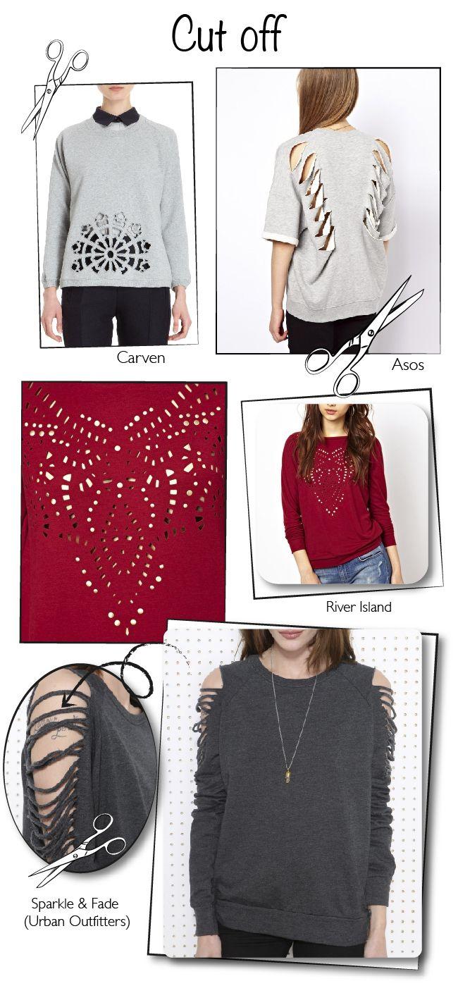 Inspiracion Diy 27 Ideas Para Customizar Una Sudadera Dare To Diy Diy Clothes Upcycle Clothes T Shirt Diy [ 1409 x 650 Pixel ]