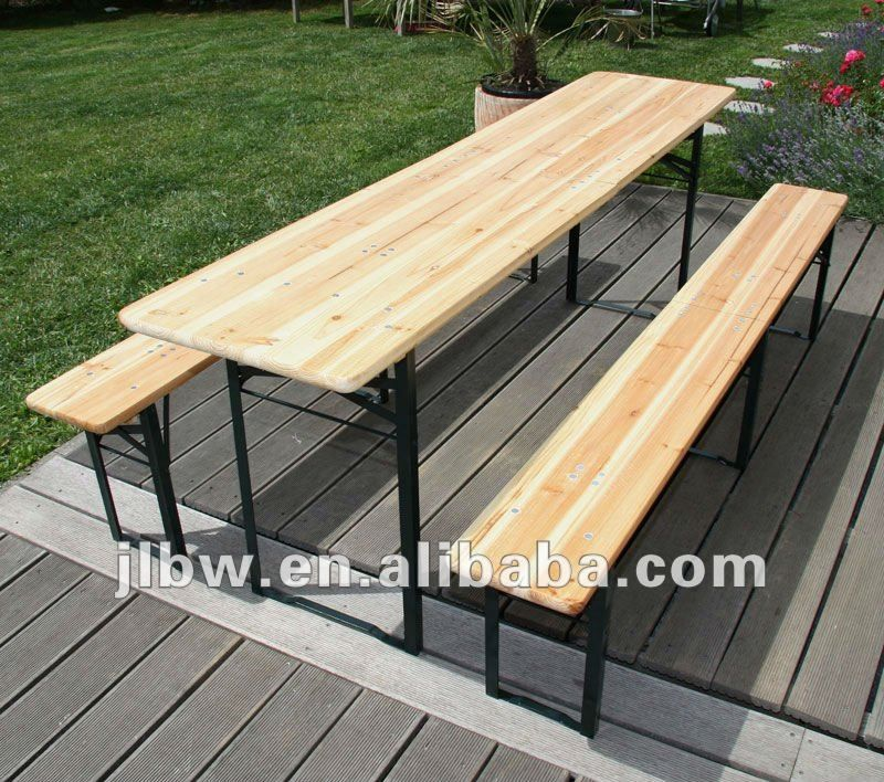 Attractive German Style Folding Wooden Beer Table And Bench Set , Find Complete  Details About German Style