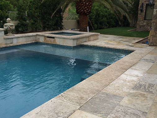 Antique Stone Pool Coping Slabs Milled at 2.5\