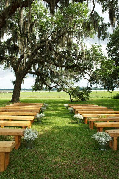 Sweet Summer Backyard Wedding Wedding Ceremony Aisle