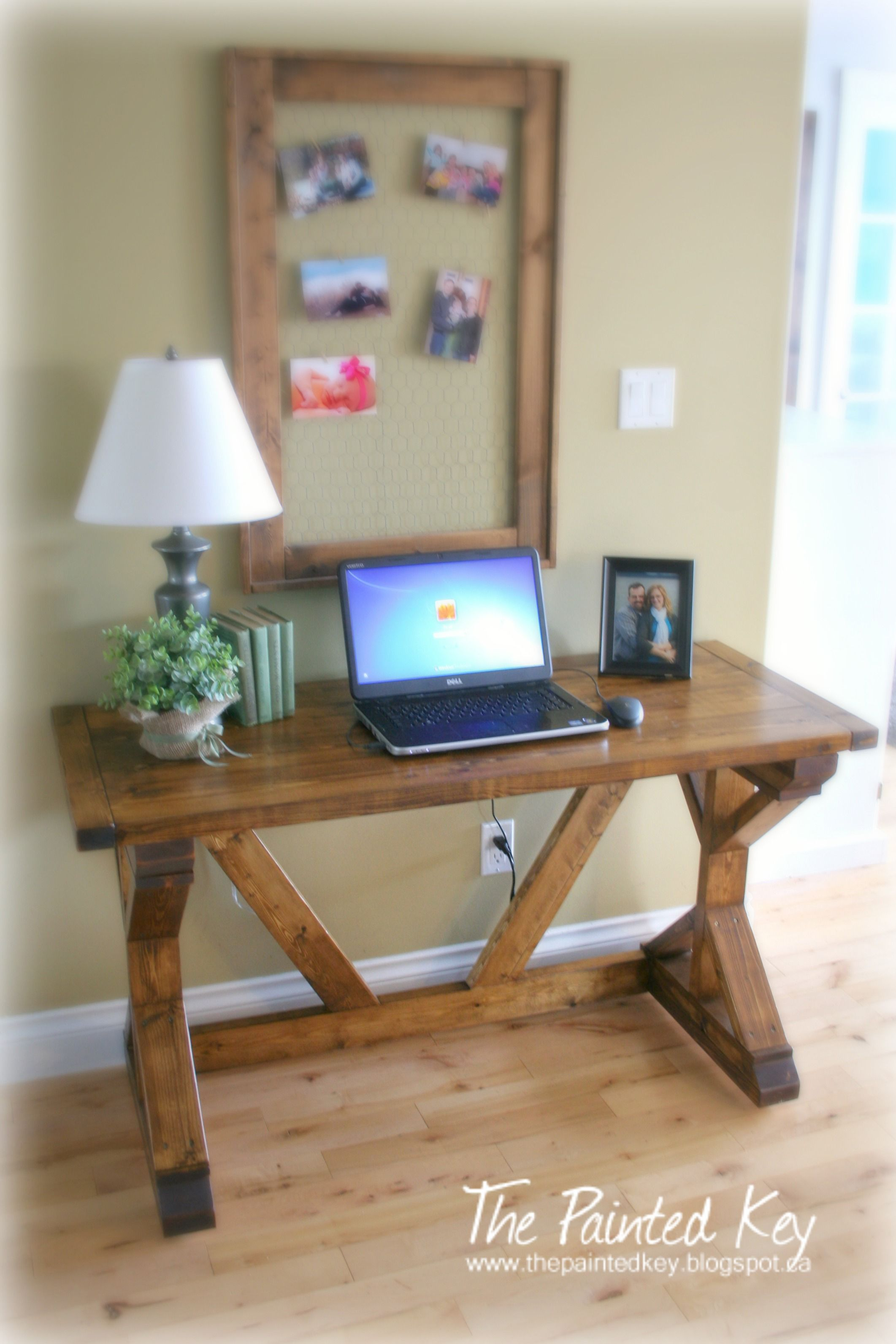 Diy Office Desk Wood Simple