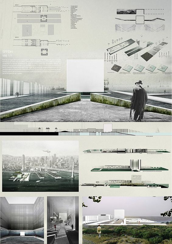 sffdh project by archmedium architecture presentation board