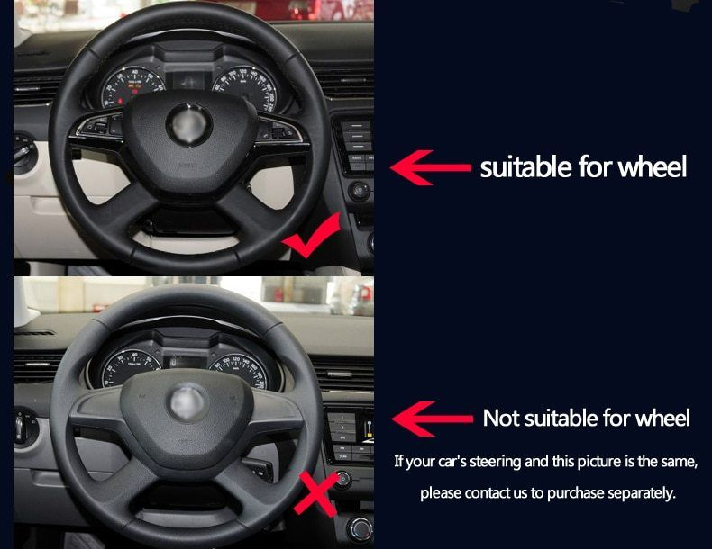 Bannis Black Leather Based Automobile Steering Wheel Cowl For