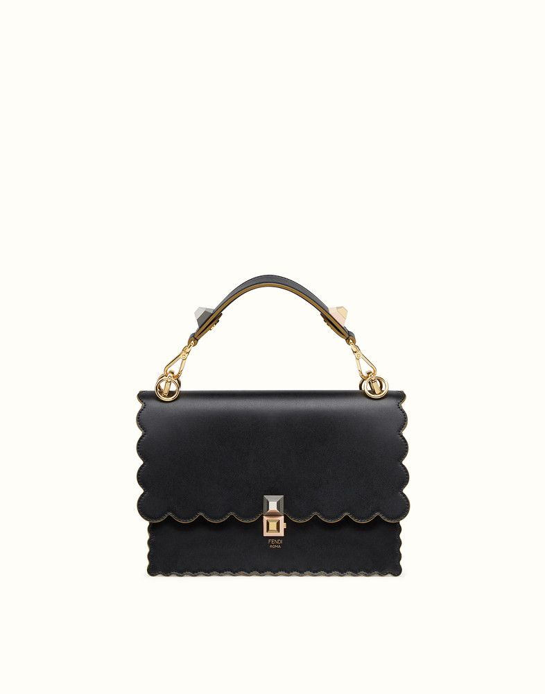 KAN I - Black and gold leather bag. Discover the new collections on Fendi  official website. Ref  6cd32f40e1e98