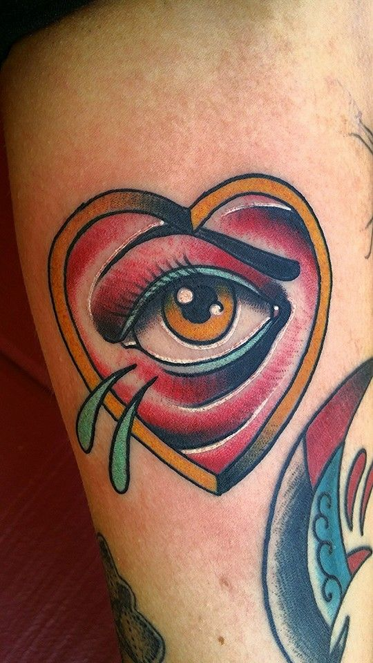 Neotraditional all seeing eye by tyler harrington at for Tattoo santa rosa