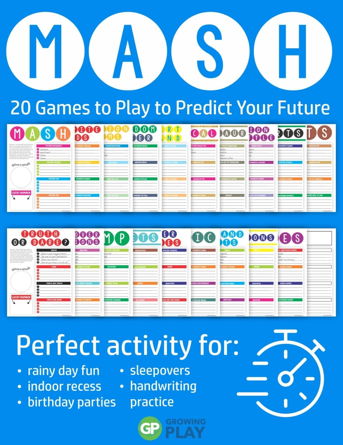 Mash Game 20 Fun Games To Predict Your Future Growing Play Mash Game Fun Games Fun Games For Girls