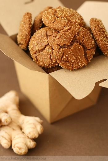 Gingersnaps - Crisp on outside, chewy on inside.