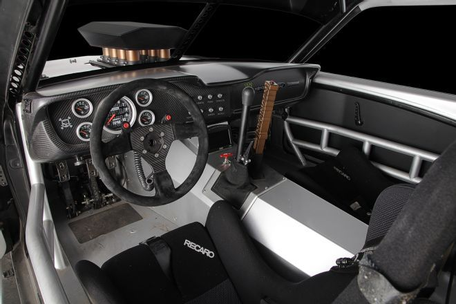 The Interior Is Race Car Spartan With Carbon Fiber Dash And A Bead