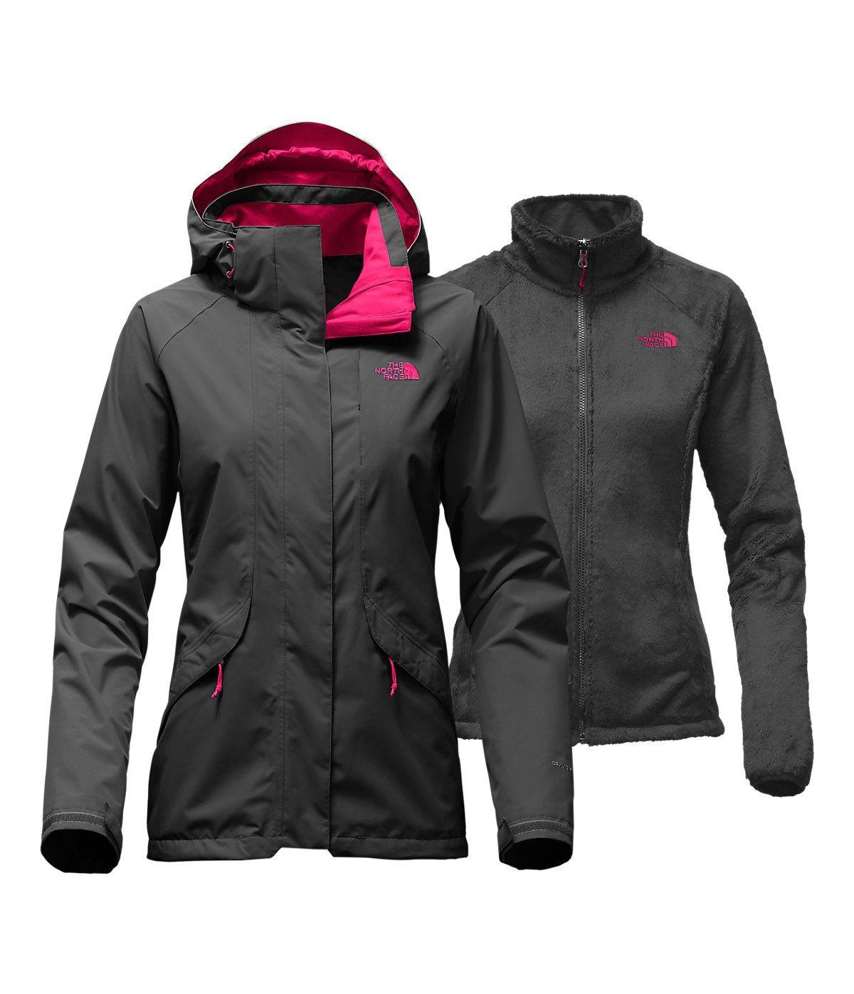 The North Face Boundary Triclimate Jacket Women S Asphalt Grey Cerise Pink Medium Waterpr North Face Jacket Womens Womens Outdoor Clothing Triclimate Jacket [ 1396 x 1200 Pixel ]