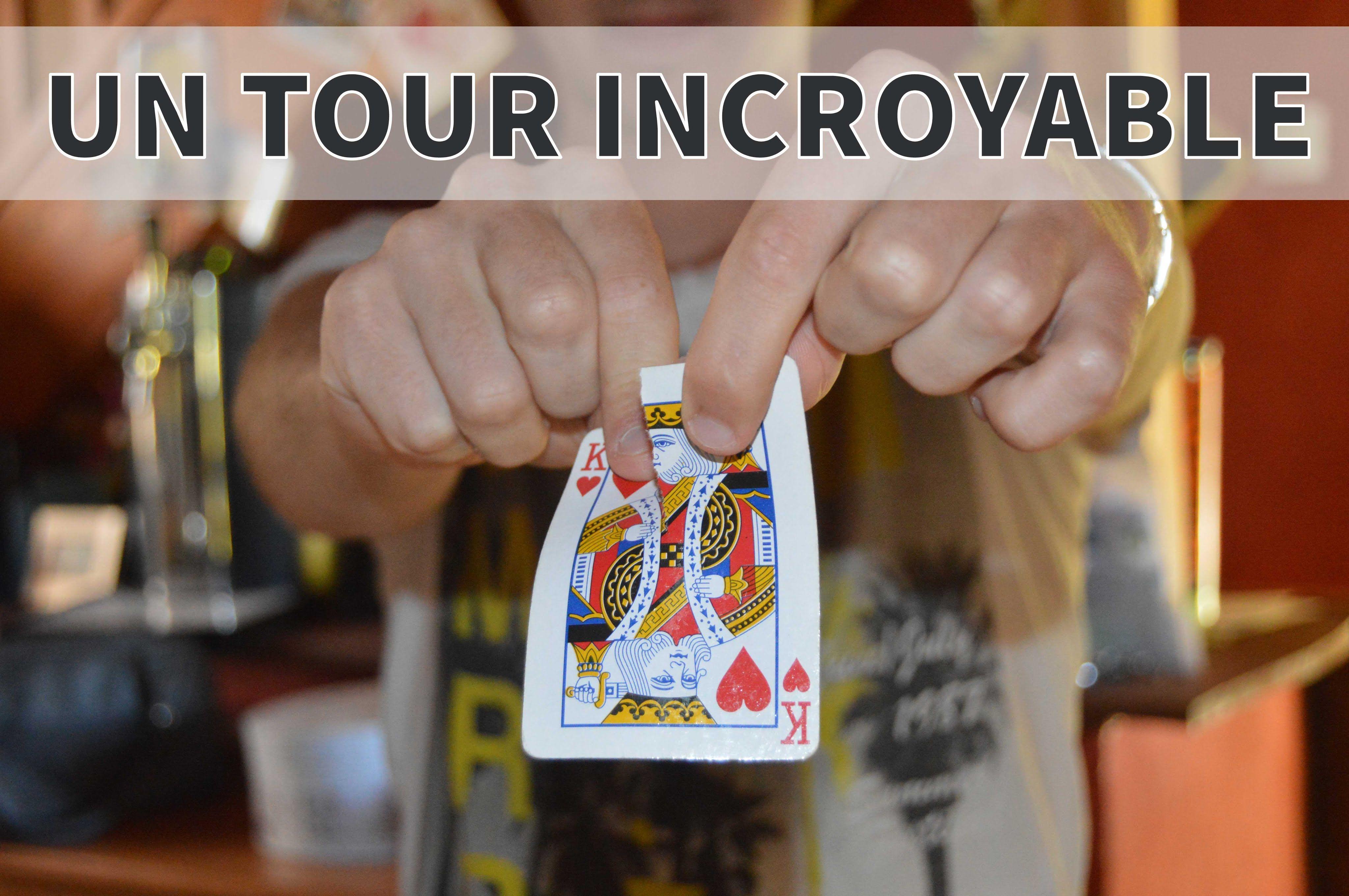 tour de magie carte simple Déchirer et Reconstituer une Carte   Tour de Magie INCROYABLE