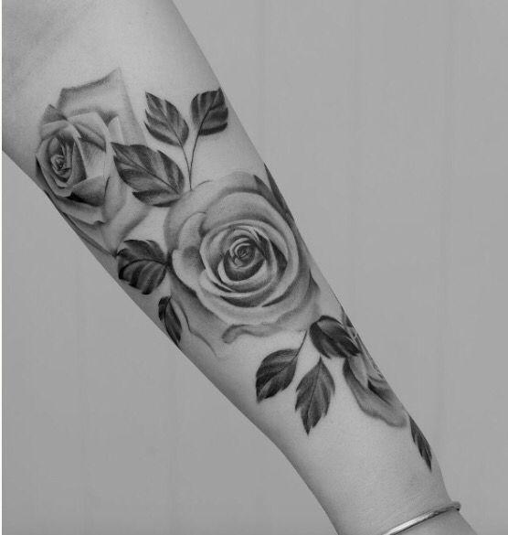 Tatuajes De Rosas Para Mujer Brazo Hombro Tatoos