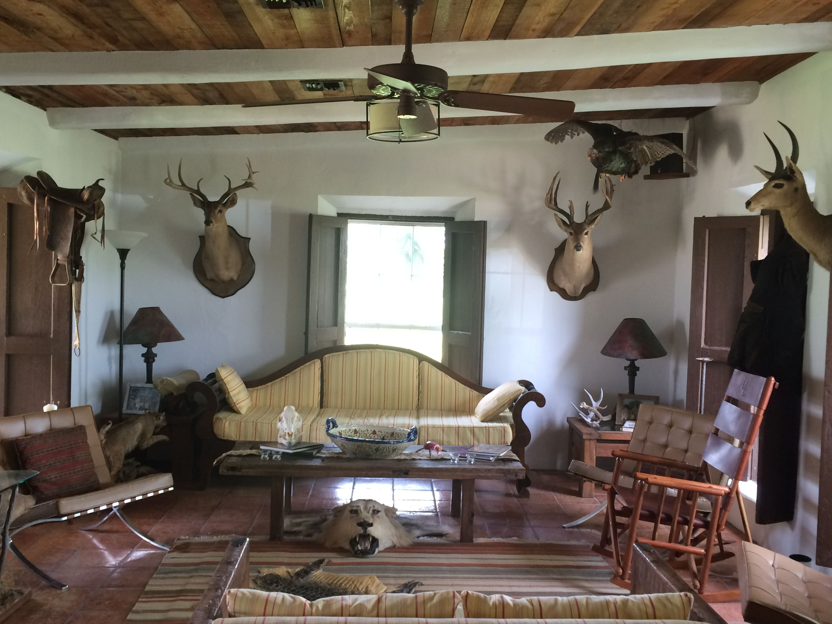 The main interior of one of the hunting lodge's on the Ranch. #hunting #kingranch #ranch #Texas #country #decor