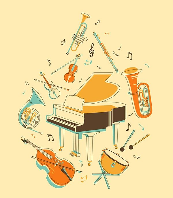 Pin By Audrey Cazenave On Illustration Classical Music Poster Musical Instruments Illustration Instrument Illustration