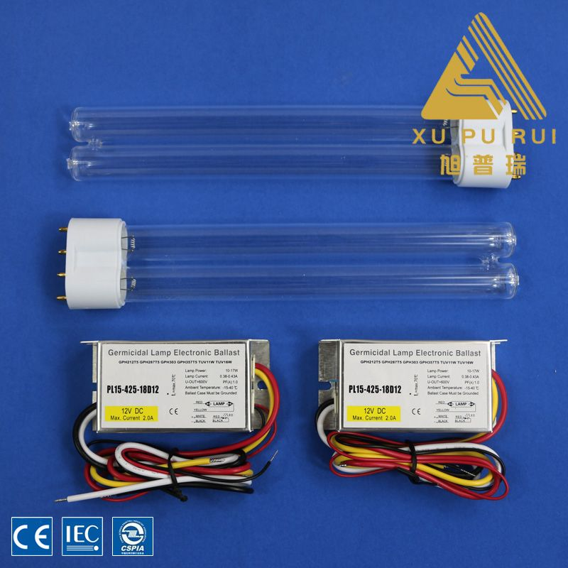 10w212mm H Type High Ozone Uv Germicidal Lamp Uvc Lamp For Air Purifcation Ozone Ballast Lamp