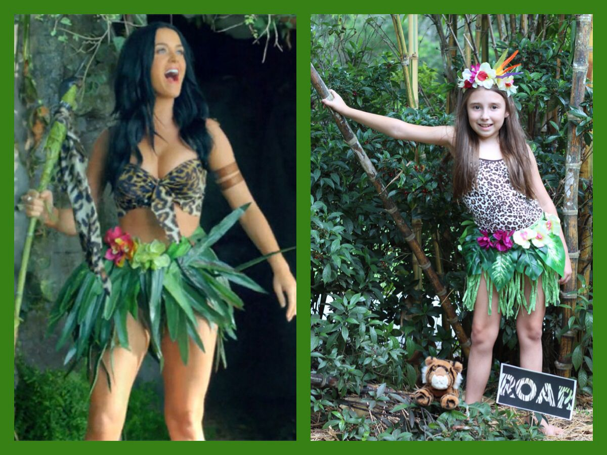 Katy Perry Roar costume- $5 shirt, $5 in flowers and ...