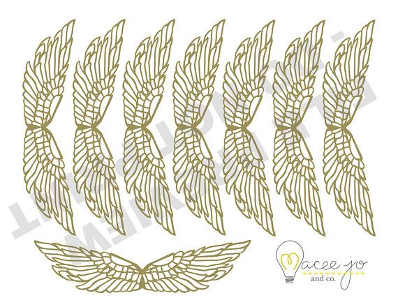 Golden Snitch Wings Cut And Print Files Harry Potter