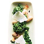 Broccoli Rabe with White Beans and Parmesan Recipe | MyRecipes.com