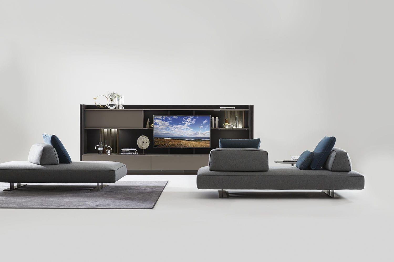Modular Sofa Original Design Walnut Fabric Filiph Air Art Nova