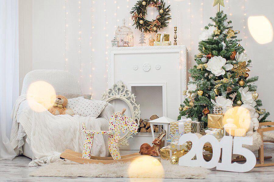 новогодние фотозоны белые с золотом что одеть буфет органично