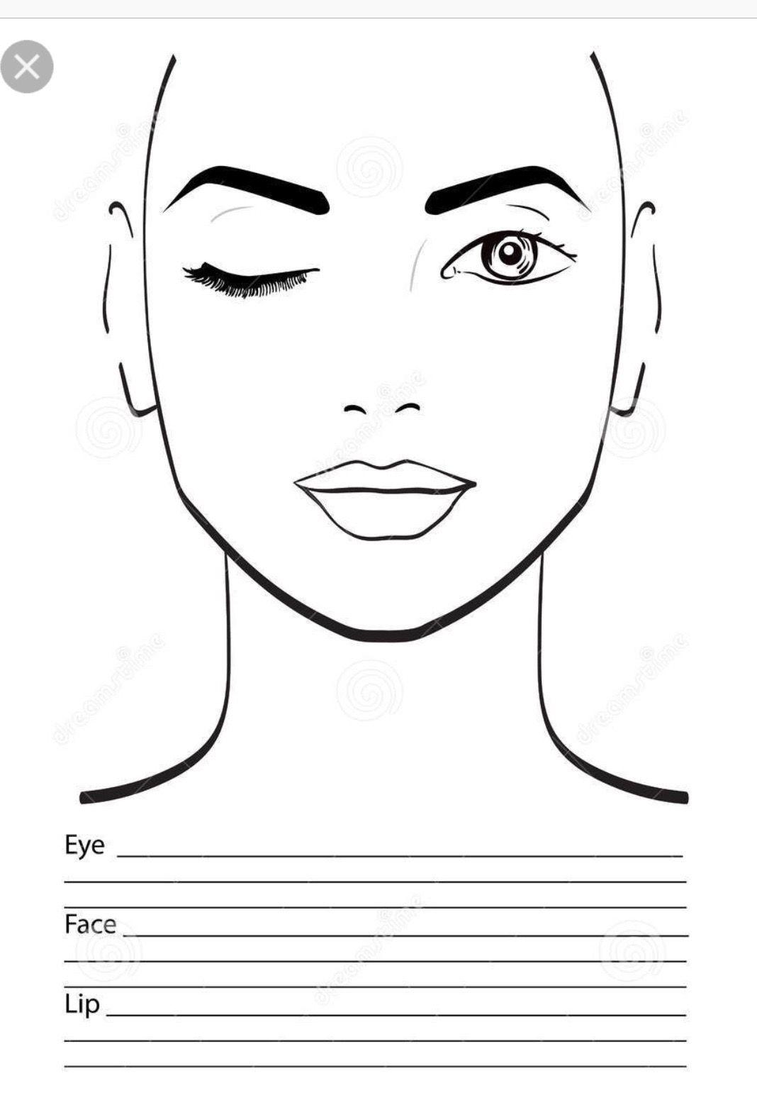 Makeup Face Charts By Makala Denefield