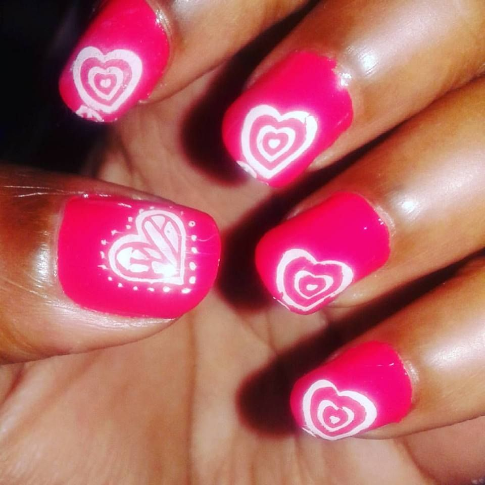 74 Fabulous Valentine Nail Art Ideas That You\'ll Love | Nail heart ...